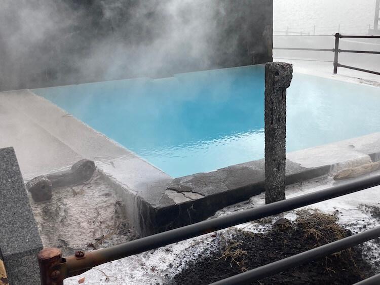 湯巡り日本一周Nバン車中泊43湯目 ヘルシーランド 露天風呂 たまて箱温泉の源泉、伏目温泉源泉