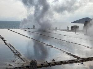 湯巡り日本一周Nバン車中泊43湯目 ヘルシーランド 露天風呂 たまて箱温泉の山川製塩工場跡