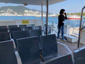 長崎行ったら絶対行くべし!軍艦島ツアーは軍艦島コンシエルジュのジュピター号のデッキ席
