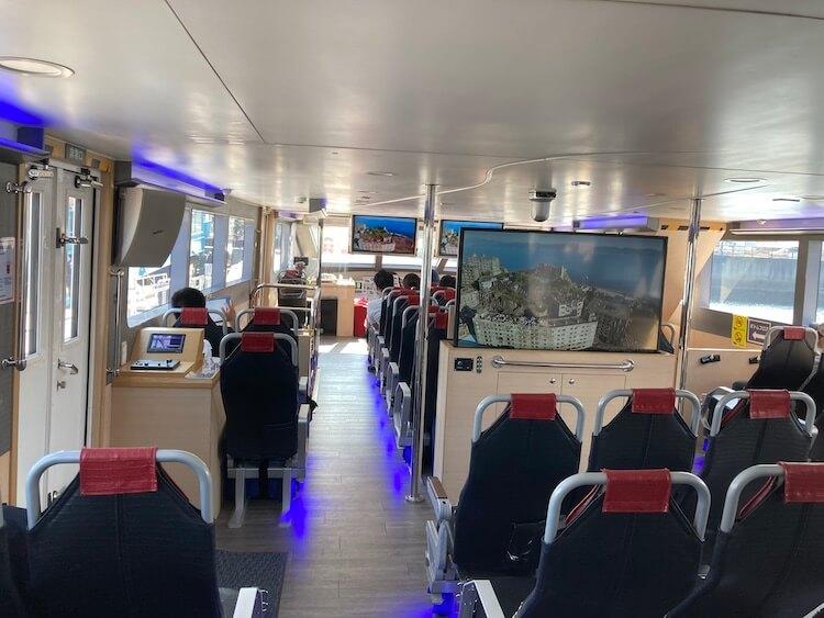 長崎行ったら絶対行くべし!軍艦島ツアーは軍艦島コンシエルジュのジュピター号の船室