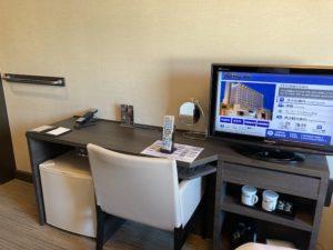 湯巡り日本一周Nバン車中泊45湯目 出島の湯ドーミーイン長崎新地中華街の客室
