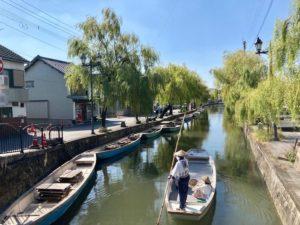 柳川市・大川市の無料車中泊スポット からたち文人の足湯は柳川の川下りもすぐ近く