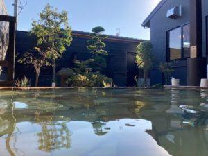湯巡り日本一周Nバン車中泊46湯目 天然の湯 あおき温泉の露天風呂