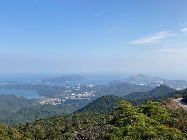 天空のポストがある、伊勢志摩スカイラインはその名前に違わず、絶景の連続。