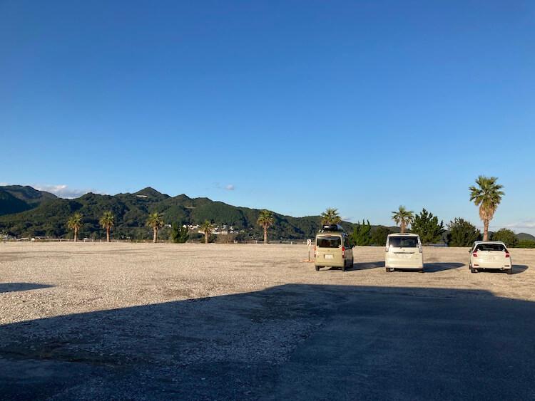 湯巡り日本一周Nバン車中泊50湯目 ホテル浦島の駐車場