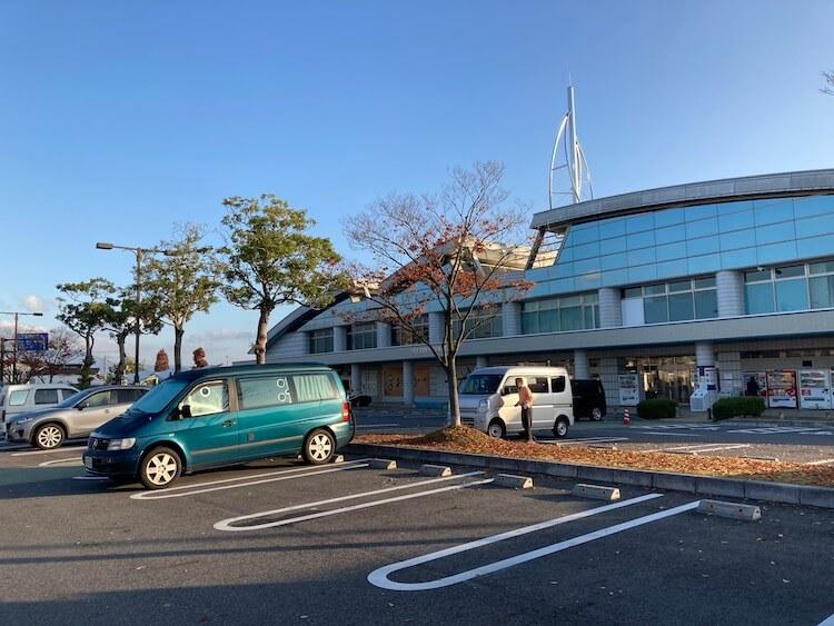 Nバン日本一周車中泊57日目 道の駅 びわ湖大橋 米プラザ外観