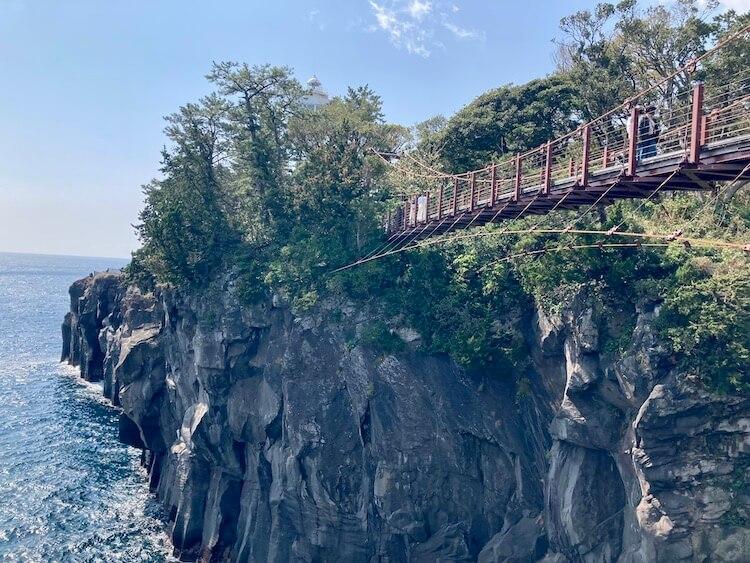 湯巡りNバン日本一周車中泊62日目 大室山 城ヶ崎公園の吊橋