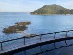 鴎風亭露天風呂から仙酔島をひたすら眺める贅沢