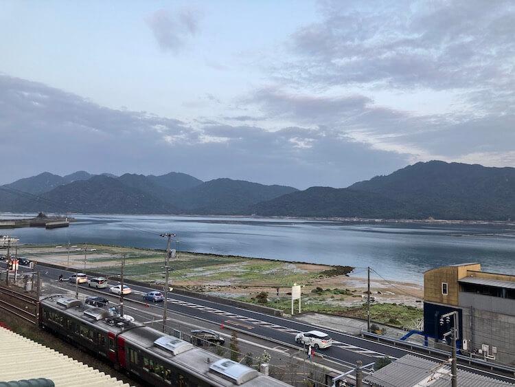 湯巡り日本一周Nバン車中泊 69湯目 宮浜紅まんさくの湯の外気浴スペース