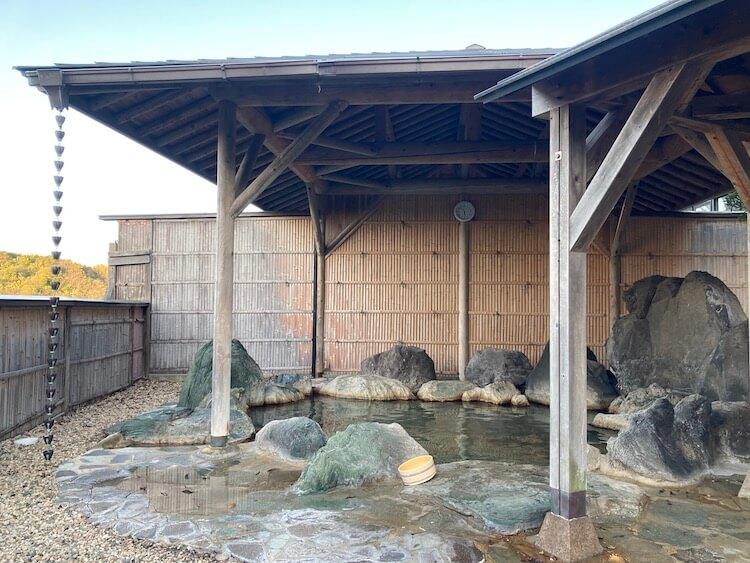 湯巡り日本一周Nバン車中泊 72湯目 多伎いちじく温泉の露天風呂