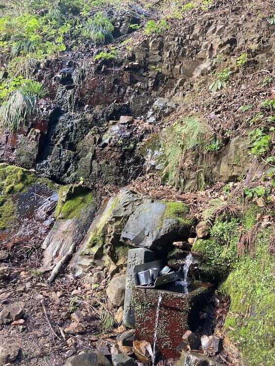 新潟随一のパワースポット弥彦山7合目の湧き水