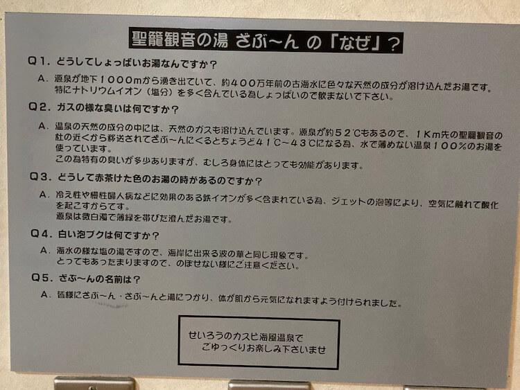 湯巡り日本一周Nバン車中泊 77湯目 聖籠観音の湯ざぶーんの「なぜ」?