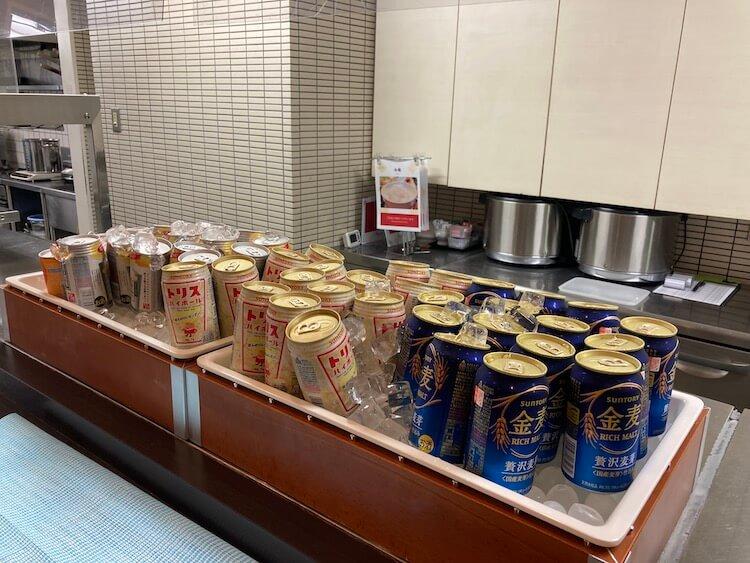 湯巡り日本一周Nバン車中泊 81湯目 ドーミーイン弘前岩木桜の湯の金麦とハイボール