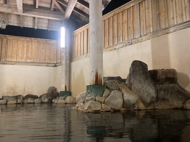 湯巡り日本一周Nバン車中泊 82湯目 下田温泉ゆーらくえんの露天風呂