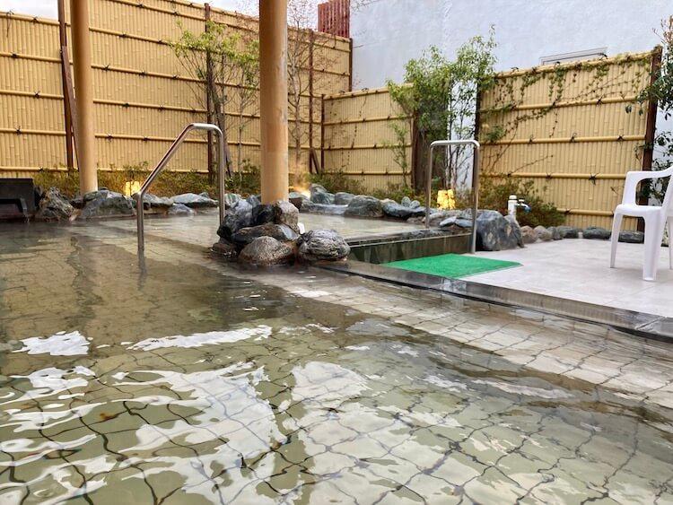 湯巡り日本一周Nバン車中泊 84湯目 そうま温泉 天宝の湯の露天風呂