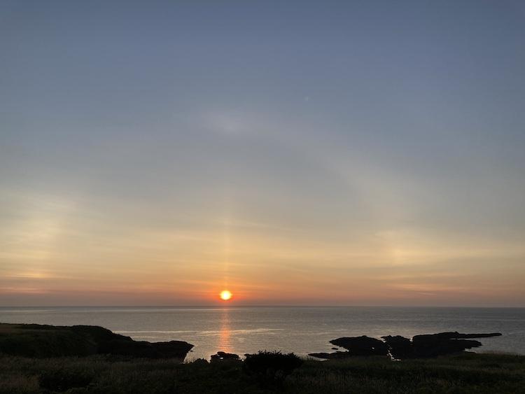 登別クマ牧場のクマと弁慶岬のエゾジカで動物ざんまい 弁慶岬の夕日