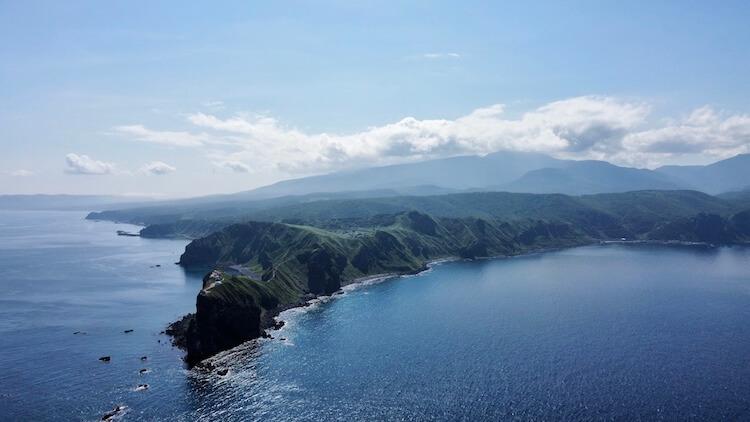 神威岬でドローン空撮に挑戦!!神居岩から神威岬を撮影