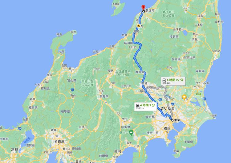 帯広から稚内までの距離は約400km、本州だと東京〜新潟でもまだ足りない